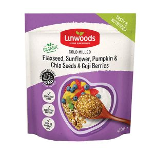 Linwoods Milled Flaxseed Sunflower Pumpkin and Sesame Seeds and Goji Berries 425g