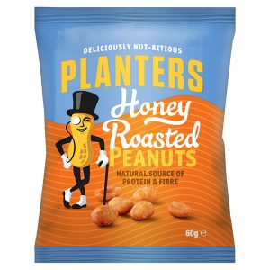 Planters Honey Roasted Peanuts 60g
