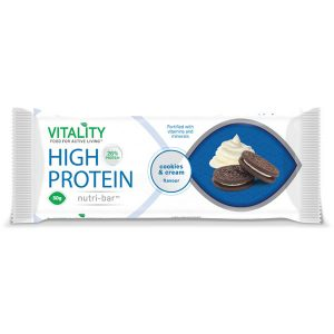 Vitality Cookies and Cream Nutri Bar 50g