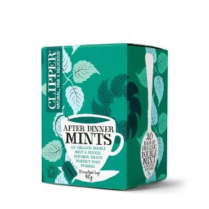 Clipper Fairtrade Organic After Dinner Mints Double Mint Infusion Tea 20 Bags Case Of 4