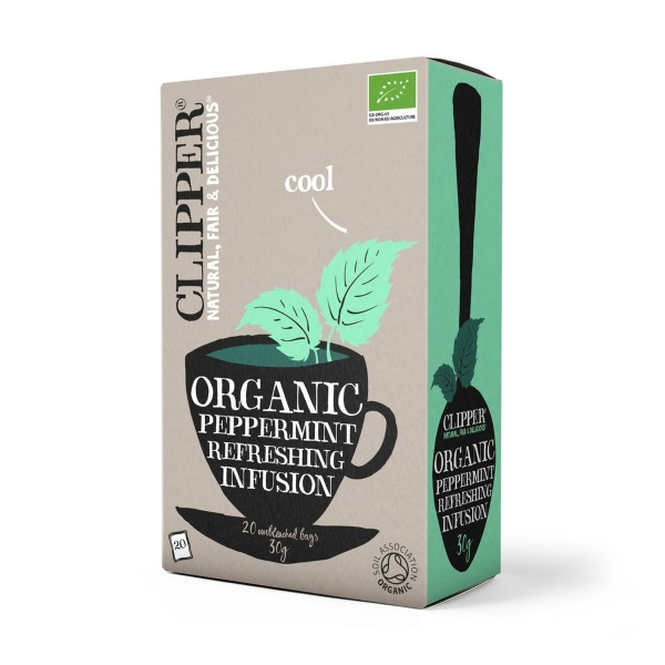 Clipper Fairtrade Organic Peppermint Infusion Tea 20 Bags Case Of 4
