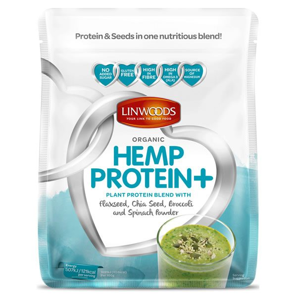 Linwoods Organic Hemp Protein Plus Flaxseed Chia Broccoli Spinach Powder 360g