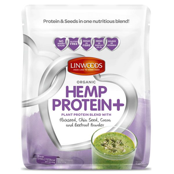 Linwoods Organic Hemp Protein Plus Flaxseed Chia Seed Cocoa Beetroot 360g