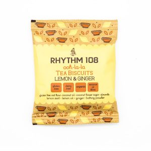 Rhythm 108 Lemon Ginger Tea Biscuits 24g